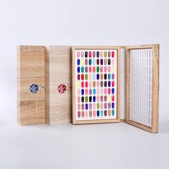 Profissional 180 cores unha gel polonês cartão de exibição livro cor placa paleta suporte com 192 pçs unhas falsas salão mostrar ferramentas