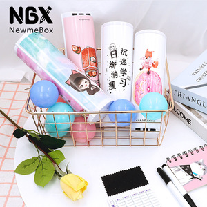 Image 3 - Password Pencil Case  Calculator Solar Erasable Mirror High Capacity Pen Boxes Bags Pouch School Supplies Stationery Boys Girls