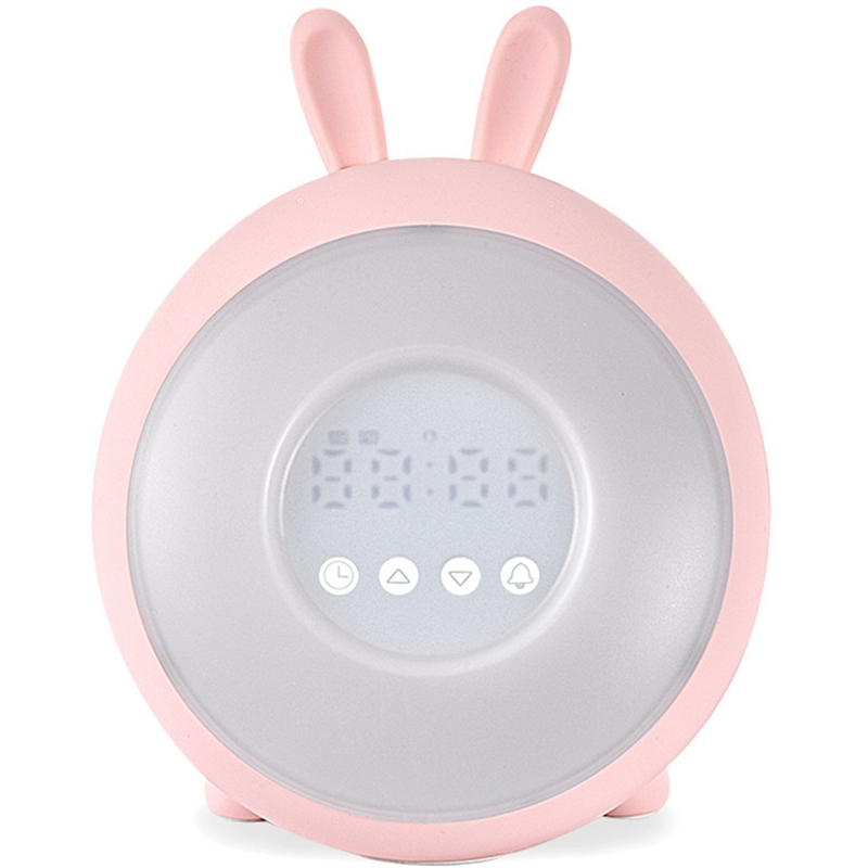 Sunrise Alarm Clock - Digital Led Clock With 6 Color Switch - Multiple Nature Sounds Sunset Simulation & Press Control - With Sn