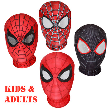 Adults Kids Spider Superior Verse Black Raimi Red Visible Full Mask Hood Cosplay For Mens Womens Children - sale item Costumes & Accessories