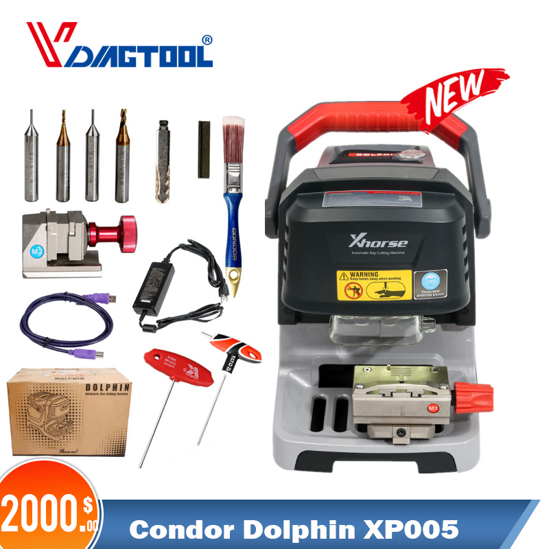 V1.1.3 Xhorse Condor Dolphin XP005 Automatic Key Cutting Machine Works On IOS & Android Via Bluetooth