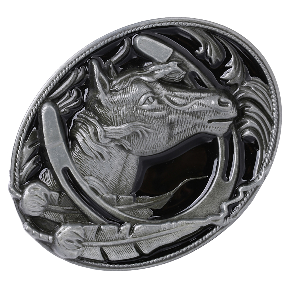 Western Cowboy Cowgirl Rodeo Alloy Horse Head Belt Buckle Jeans Accessories Horse Head Cowboy Rodeo Western Belt Buckle