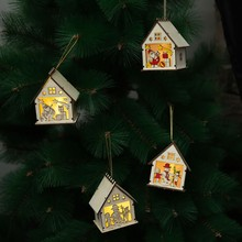 Get more info on the Cute Led Light Wood House Pendant Christmas Ornaments Home Luminous Cabins Gift Wall Hanging Christmas Tree Decoration NavidadCM