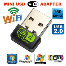 Mini USB Wifi Adapter 150Mbps 2dB WiFi Dongle AC Wi-fi Receiver Wireless Network Card 802.11b/g/n Free Driver wi fi USB Ethernet все цены