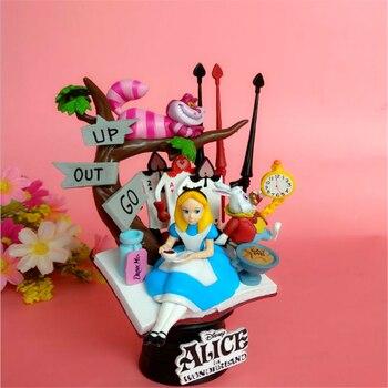 Figuras de princesas de Alicia en el país de las maravillas de Disney, figuras de acción de PVC de 16cm, Anime, muñecos de colección, regalos