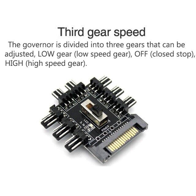 Разветвитель кулера, устройство для охлаждения компьютера, Sata Molex, кабель для майнинга, 1-8 дюймов, 3 контакта, 12 В, 4-контактный/SATA адаптер 3