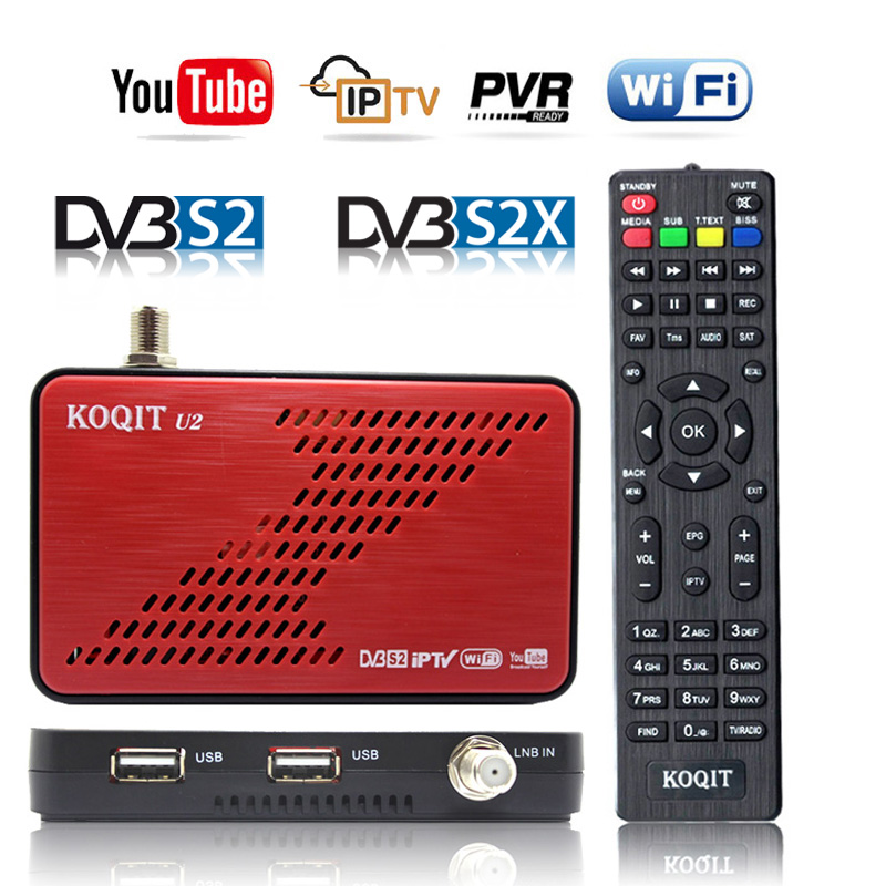 Koqit Receptor Satellit Tv Receiv DVB-S2X DVB-S2 Auto Biss Decoder IPTV Receiver Satellite Finder Youtube Wifi Scam /iks Tv Box