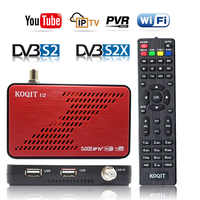 Koqit Receptor satellit tv recibir DVB-S2X DVB-S2 de Biss decodificador Receptor iPTV de buscador de satélite Youtube Wifi ESTAFA/iks caja de tv