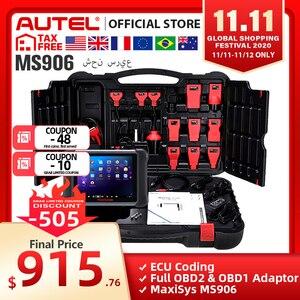 Image 1 - AUTEL MaxiSys MS906 Auto Diagnostic Tool OBD2 Scanner Automotive Key Coding OBD 2 ECU Tester Key Programmer PK MS906BT MS906TS