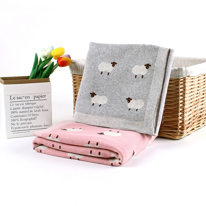 Baby Blankets Newborn Swaddle Stroller Bedding Wrap Cartoon Alpaca Knitted Baby Swaddle Soft Receiving Blankets Children Quilts