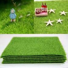 15x15 см искусственная газон diy микро пейзаж зеленая трава