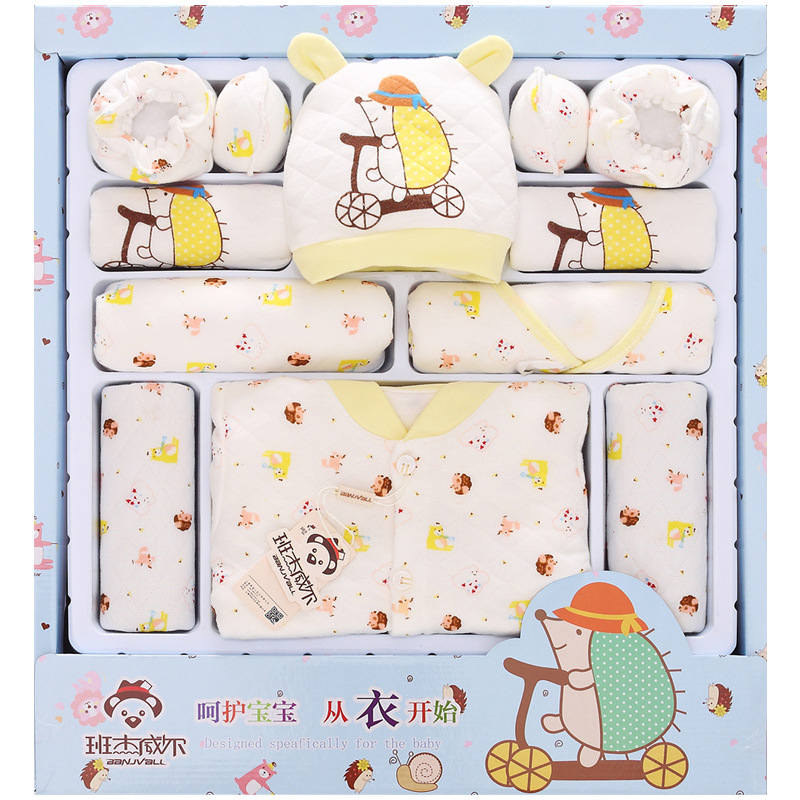 Autumn And Winter Clothes For Babies Newborns Gift Box Pure Cotton Thick Newborn BABY'S FIRST Month Baby Set Maternal And Child