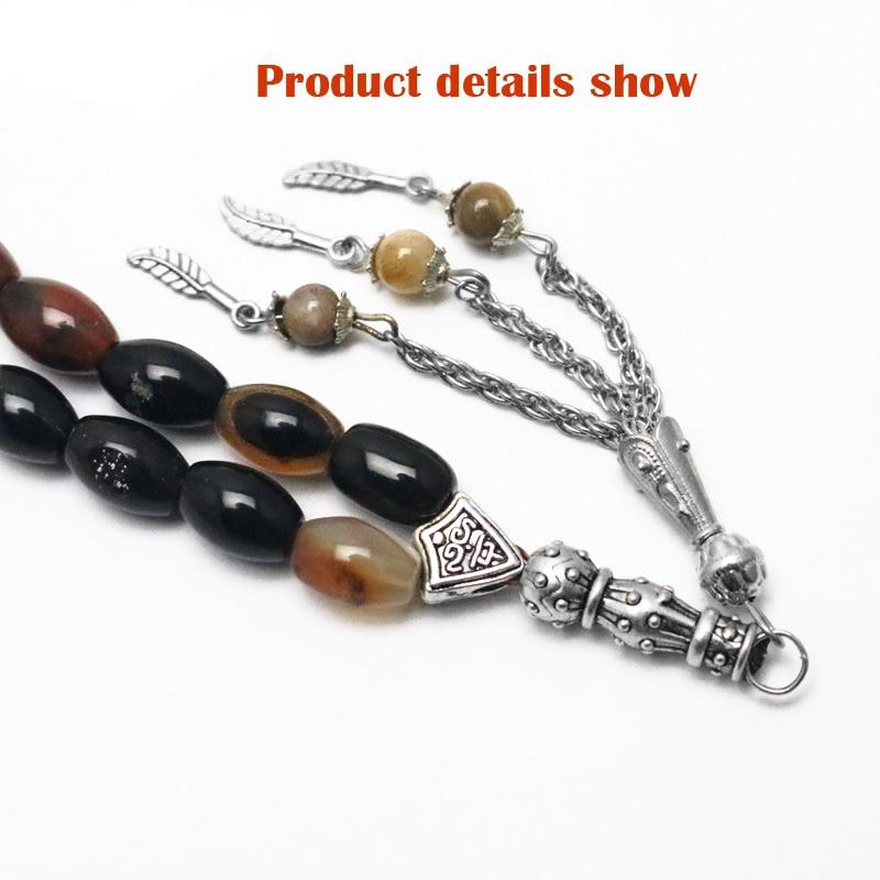 Image 5 - Islamic Color Prayer Beads Rosary Tasbih Allah Misbaha Taspeeh  Sibha Masbaha Tesbih Muslim Gift Subha MisbahaStrand Bracelets   -
