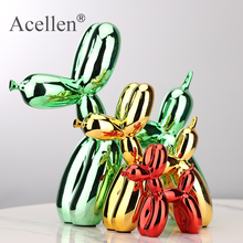 Plating balloon dog Statue Resin Sculpture Home Decor Modern Nordic Home Decoration Accessories for Living Room Animal Figures