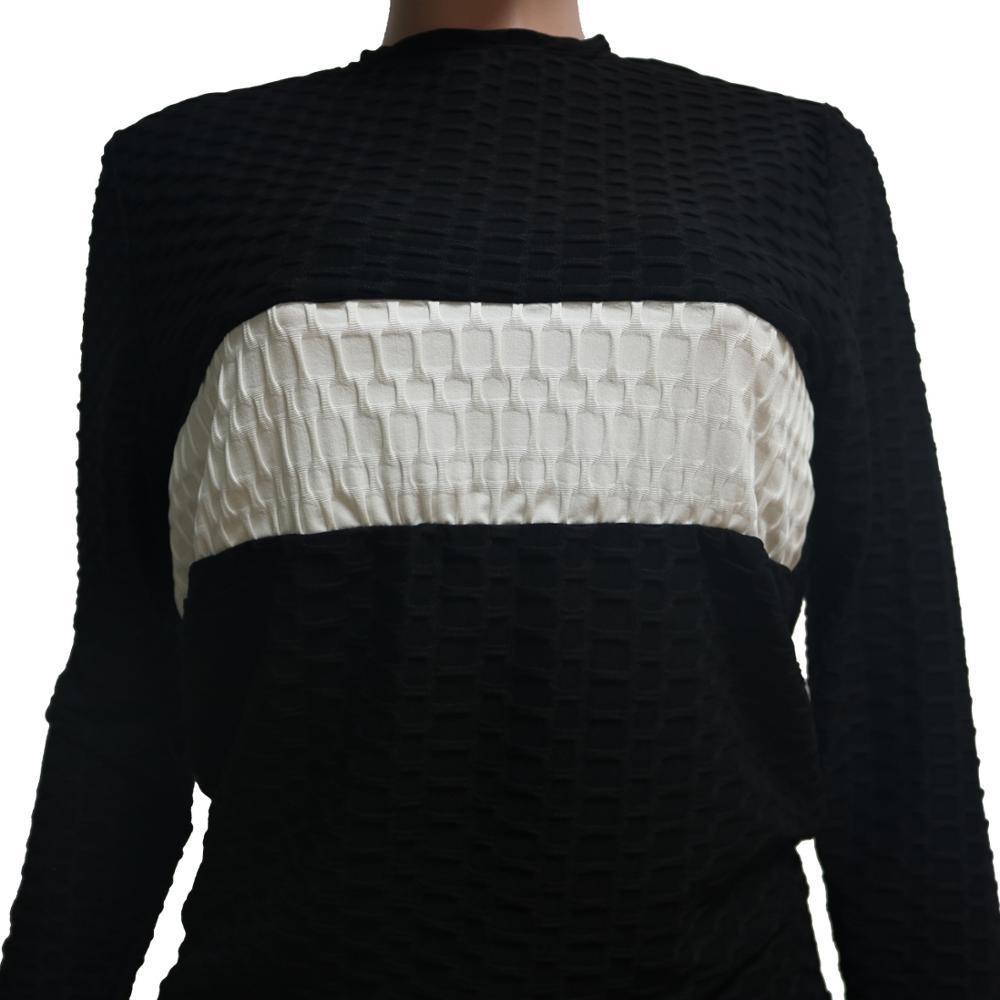 Повседневный Спортивный костюм в полоску женский свитер укороченные