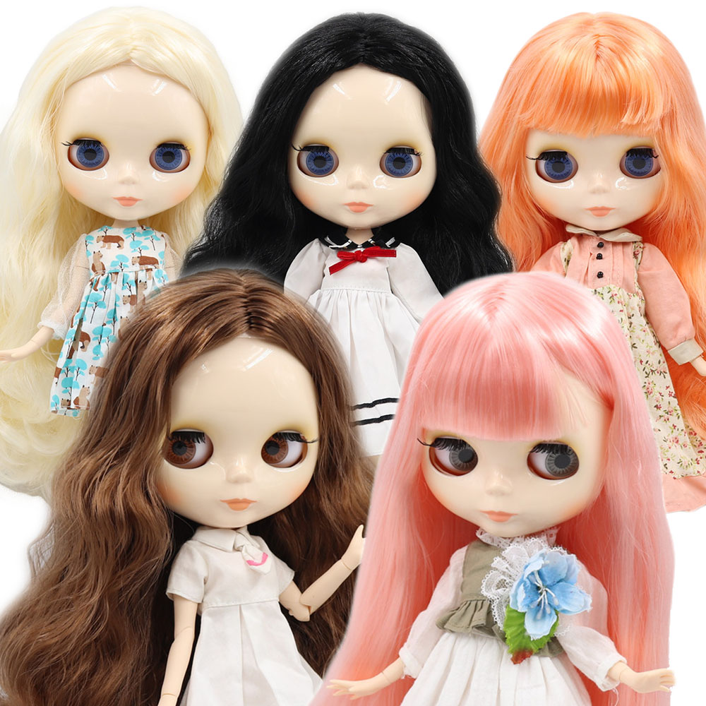 ICY factory Blyth doll 1/6 BJD customized nude joint body with white skin, glossy face, girl gift, toy(China)