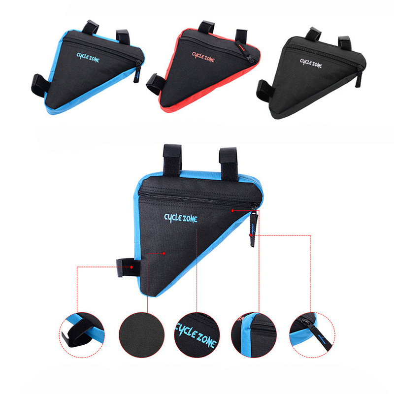 Image 4 - MTB Road bike front frame triangle bag bicycle beam bag bicycle tube bag bracket saddle bracket kit bicycle accessories-in Bicycle Bags & Panniers from Sports & Entertainment