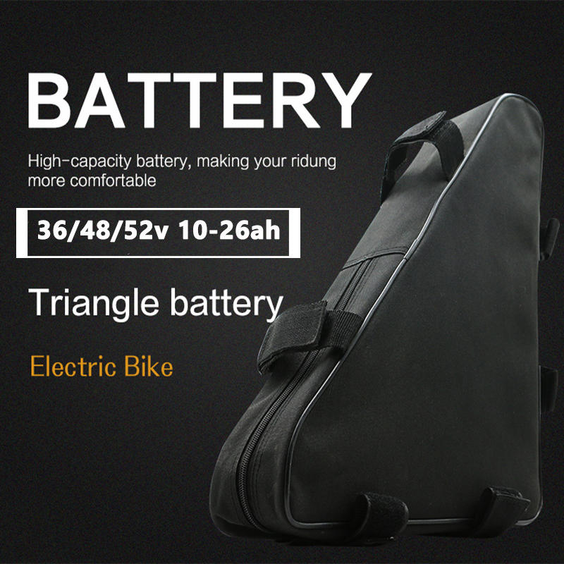 High-capacity Triangle <font><b>Lithium</b></font> <font><b>Battery</b></font> <font><b>Pack</b></font> <font><b>36V</b></font> 48V 52V <font><b>Battery</b></font> Bag Ebike <font><b>Battery</b></font> <font><b>1000W</b></font> Motor Electric Bicycle Conversion Kit image