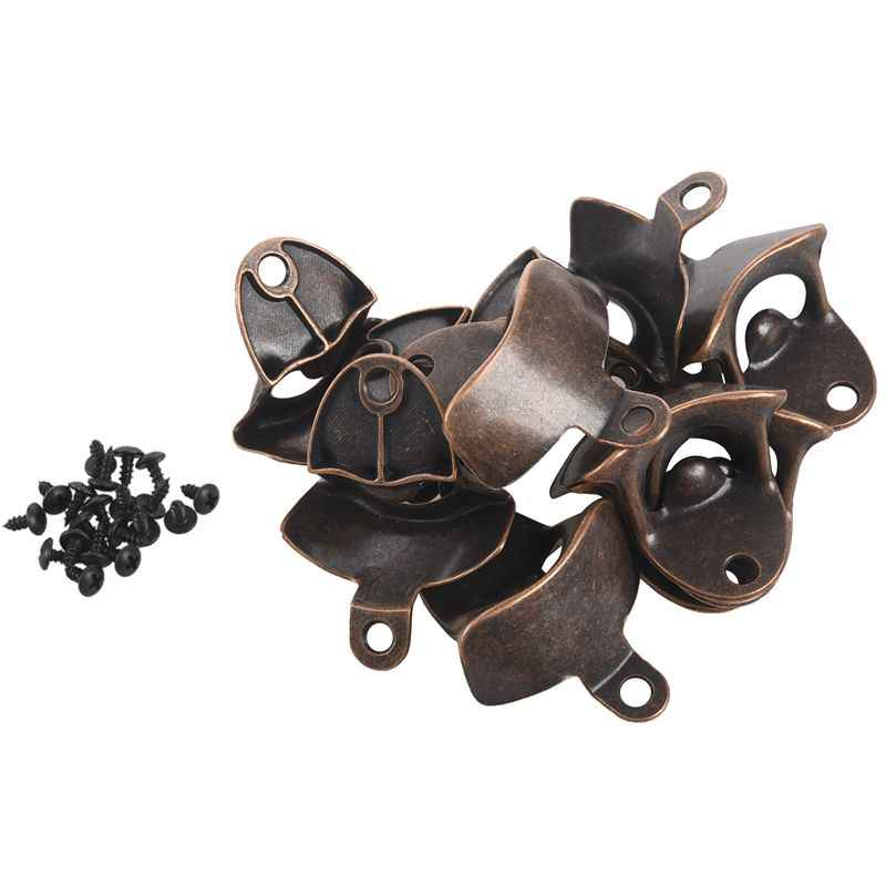TIHOOD 3PCS Bottle Opener Wall Mounted Rustic Beer Opener Set Vintage Look with Mounting Screws for Kitchen Cafe Bars Red Bronze