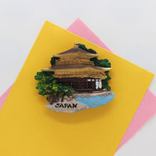 Geladeira ímã japão lembrança reto construção vista arte artesanato resion estéreo presente cozinha decoração de casa adesivo magnético papepaste
