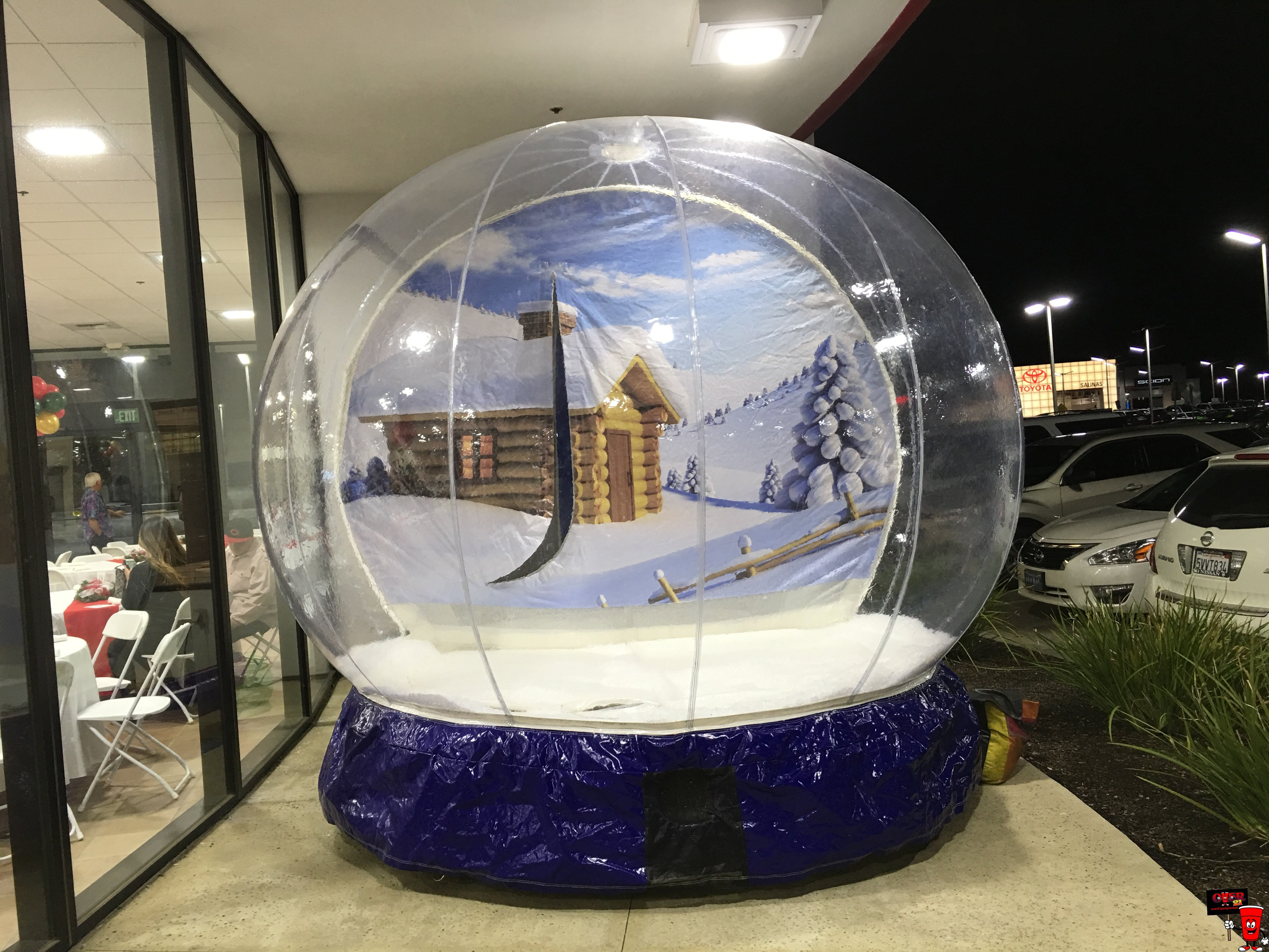 2019 offre spéciale gonflable publicité gonflable Globe de neige personnalisé fond décoration Globe de neige pour noël 2 m/3 m/4 m