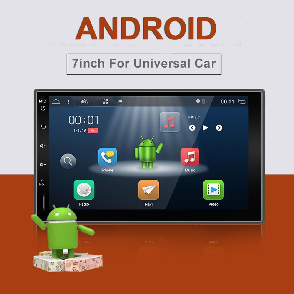 Bosion Quad Core 4 2din Android 2G RAM 4G LTE SIM GPS coche Universal Radio player BT WIFI SWC MIRRIR enlace