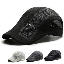 Summer Leisure Beret Cap Men Women Charter Sun Hats Flat Top Shutter Hats Golf Baseball Cap Quick Dry Sunshade Trucker Hats