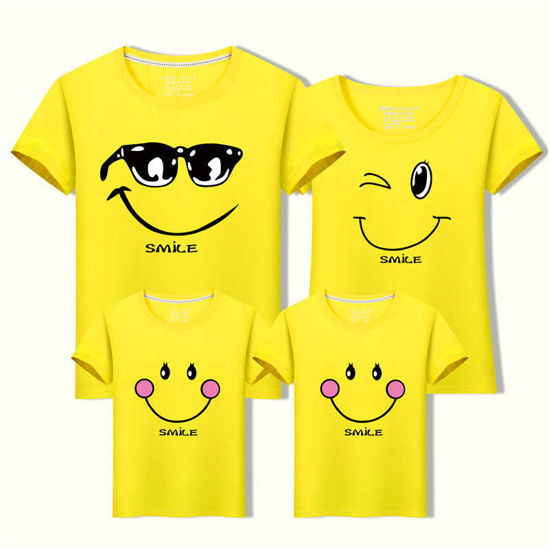 Family Matching Clothes Casual T-shirts Mother Father Son Daughter Outfits Cotton Family Look cotton  clothing