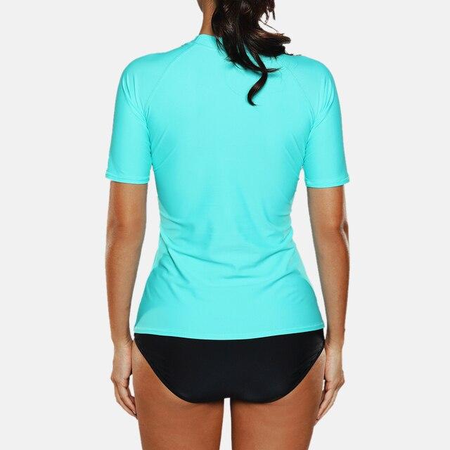 Women Short Sleeve Swimwear