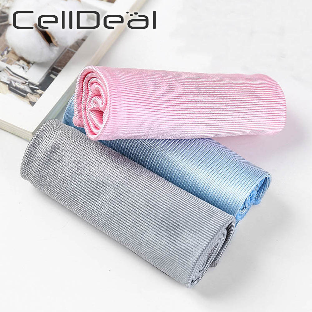 Soft Microfiber Towel Car Cleaning No Trace Absorbable Window Car Rag Cleaning Towel Kitchen Mirror Cleaning Wipe Glass Cloth