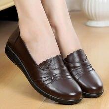 Туфли женские из натуральной кожи на плоской подошве
