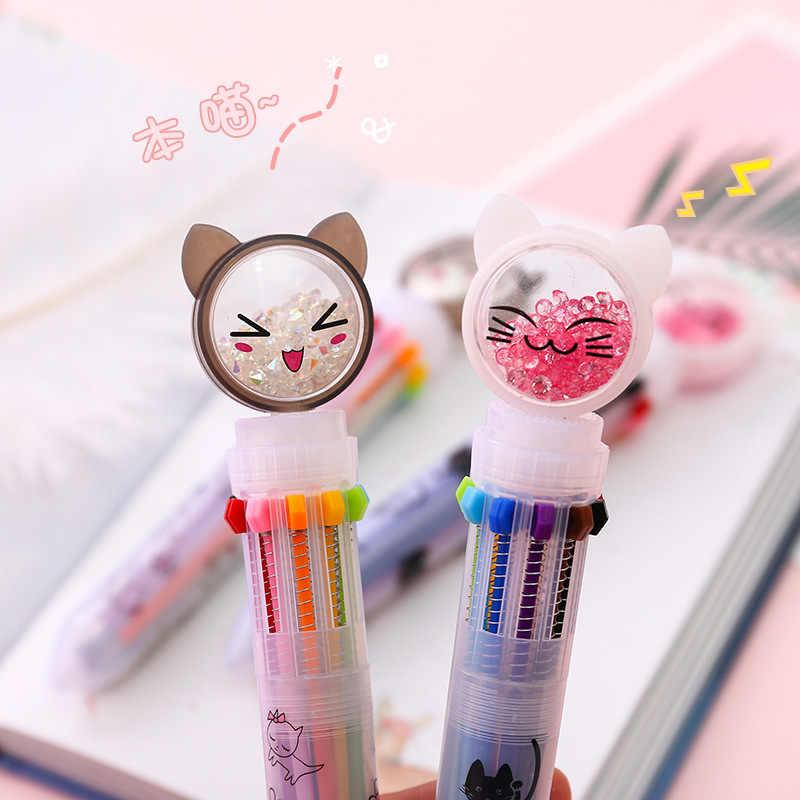 1 Chiếc Kawaii Bút Bút Bi Mèo Bút Đáng Yêu Multicolors Bút Sáng Tạo Bóng Bút Chì Văn Phòng Phẩm Đồ Dùng Học Tập Học Sinh Sinh Viên