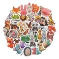40/80 Pcs JDM Mix Stile Nette Aquarell Tier Aufkleber für Laptop Skateboard Computer Gitarre Kinder Cartoon Aufkleber Aufkleber Spielzeug