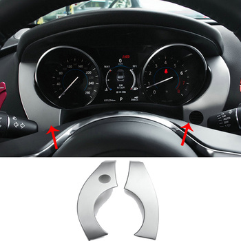 Car styling accessories 2pcs metal Car interior dashboard side trim cover For Jaguar F-PACE 2016-2020