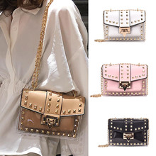 Small Clear Cosmetic Bags Female PU Make Up Women Fashion Rivets Transparent Shoulder Bag Travel Organizer