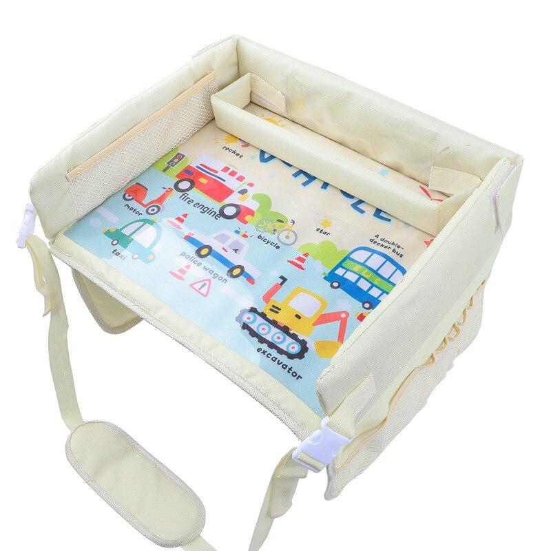Поднос для детского сиденья, Модернизированный Многофункциональный поднос для сидений автомобиля, водонепроницаемый поднос для хранения ...