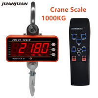 1000KG Digital Hanging Crane Scale OCS S1 LCD Crane Scale High Accurate Heavy Duty Hook Scale 40%off