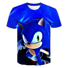 Boys Cartoon Sonic T Shirt hedgehog sonic t-shirt 3D Printed Tops Boys Streetwear Clothes for Teenager Children Tops 2020 Summer