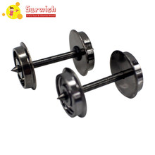 Surwish 2Pcs 1:87 Universal Modified Wheel DC Radsatz For HO Scale Model Electric Train - Black(China)