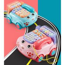 Kuulee Kids Simulation Telephone Toy Children Electric Music Phone Pretend Play Sound Learning Musical Car Toy(China)