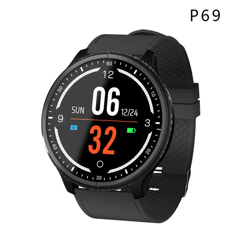 Bluetooth Smartwatch P69 soutien de Pression D'oxygène De Sang de Fréquence Cardiaque IP68 Sport Étanche Montre Intelligente pour xiaomi huawei téléphone ios
