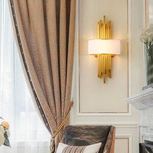 Image 4 - ท่อโลหะห้องนั่งเล่นLed Wall Light Gold/สีดำห้องนอนโคมไฟผนังSconce Loft Home Deco 90 260V Nordicโคมไฟ