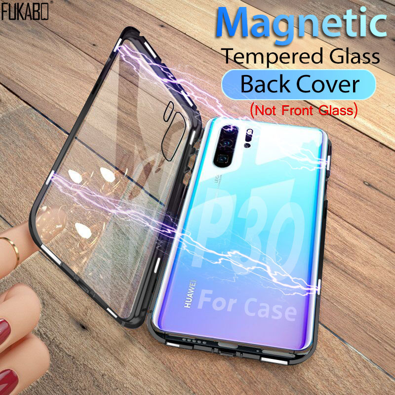 Luxury Back Full Cover Case For Huawei P30 Pro P20 Lite P Smart 2019 Adsorption For Huawei Mate 10 20 Pro Honor 10 Lite Magnetic