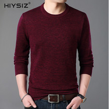 HIYSIZ Sweater Men 2019 Brand Tops Fashion Trend Streetwear O-Neck Long Sleeve Solid Striped Casual Pullover Autumn Winter SW028