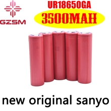 цена на GZSM 18650 battery for Sanyo UR18650GA rechargeable battery 3500mAh 3.7V 10A For replacement battery