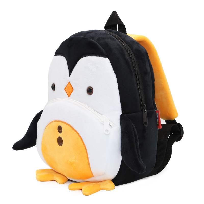 Lovely Yellow Penguin Plush Backpack School Bag For 2-4 Years Children Packing Candy Toy Books Kids Bag Satchel Mochila