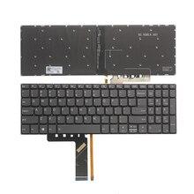 لوحة مفاتيح الولايات المتحدة الجديدة لينوفو IdeaPad 520 15 520 15IKB 320S 15 320 15ISK 320S 15IKBR الولايات المتحدة لوحة مفاتيح الكمبيوتر المحمول الأسود مع الخلفية