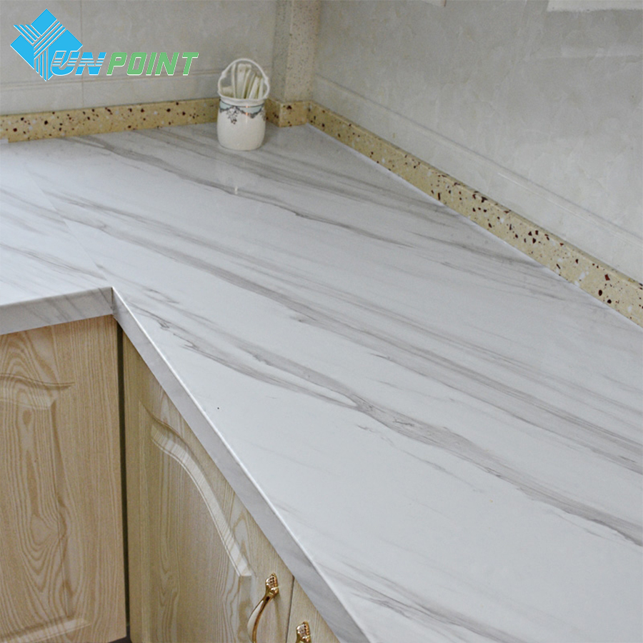 Self Adhesive Marble Wallpaper Kitchen Countertop Furniture