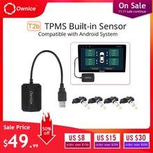 Ownice автомобильный Автошина давление USB TPMS сигнализация давления в шинах безопасность внешние/внутренние датчики для автомобиля dvd плеер навигация