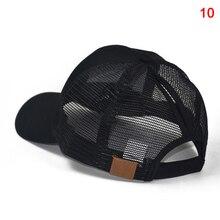 NEW 2Pcs Ponycap Messy High Bun Ponytail Mesh Trucker Baseball Cap Hat Adjustable Dad-Hat